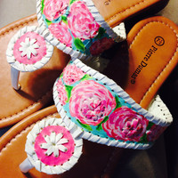 "Lilly Pulitzer Inspired Hand-Painted Jack Rogers Look-Alikes in ""First Impression"""