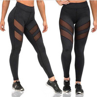 High Waisted Mesh Leggings Quick Dry