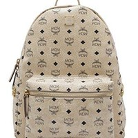 MCM Unisex Stark Side Stud Medium Backpack