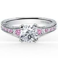 "Kirk Kara ""Stella"" Pink Sapphire and Diamond Engagement Ring"