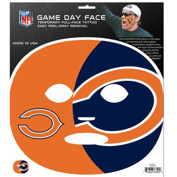 Chicago Bears Game Face Temporary Tattoo FGFD005