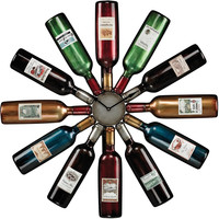 "0-002988>30""h Wine Bottle Clock Accentuate"
