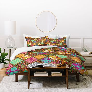 Aimee St Hill Patchwork Paisley Orange Duvet Cover