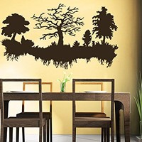 Trees Wall Decal Forest Landscape Vinyl Sticker Decals Home Decor Bedroom Art Design Interior C552