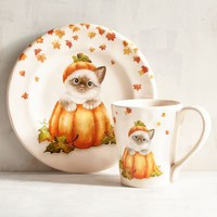 Cat in a Pumpkin Dinnerware