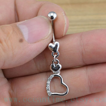 heart Belly Button Rings,heart Navel Jewlery,belly button ring,little heart,bestfriend belly button ring