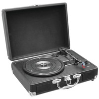 Pyle Home Retro Belt-drive Turntable With Usb-to-pc Connection (black)