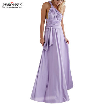 SEBOWEL 15 Colors/Multi Wearing Floor Long Formal Women Dresses Sleeveless Sexy Maxi Dress Party Wear Vestidos Largos De Verano