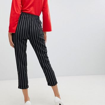 Stradivarius Stripe Peg Leg PANTS at asos.com