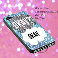 case for iphone 4/4s, 5, 5s,5c, samsung galaxy s3,s4, ipod touch 4,5 with design cover The Fault in Our Stars Quote