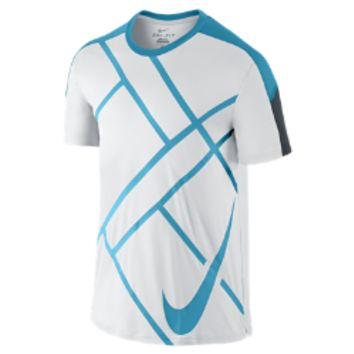 Nike Team Court Graphic Crew Men's Tennis Shirt