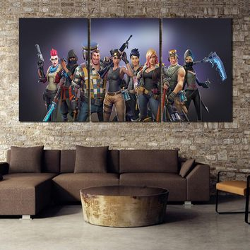 3 Piece Game Poster Fortnight Battle Royale Team Fort Nite HD Picture Print Canvas Painting Wall Art Home Decor