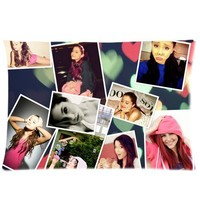Ariana Grande Zippered Pillow Cases Cover Cushion Case 20x30 (Two sides)