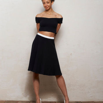 Mix n Match Coco Crop Top and Skater Skirt Set in Monochrome