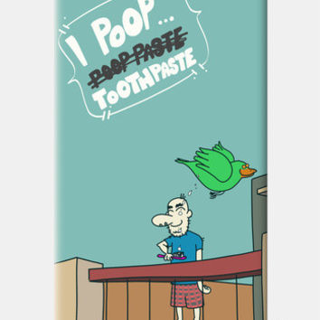 I Poop ToothPaste iPhone 5c Cases | Artist : Nitin Kapoor