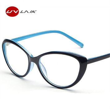 Fashion Vintage Men Women Cat Eye Eyeglasses Frame Anti-fatigue Goggles Spectacle Female Male Oval Mirror Glasses Frames 5 color