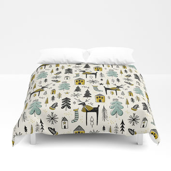 Wonderland Duvet Cover by heatherduttonhangtightstudio