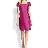 Armani Collezioni - Silk Gabardine Dress - Saks Fifth Avenue Mobile