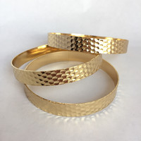 Gold Textured Set of Bangles