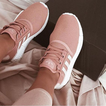 ADIDAS Women Running Sport Casual NMD Shoes Sneakers pink