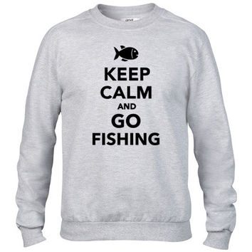 Keep calm and go fishing Crewneck sweatshirt