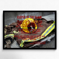 Firefighter Art Decor, Fireman Wall Decor, Firefighter Gift, Fireman Gift, Personalized Fireman Print, Digital Firefighter Gift, Fireman Art