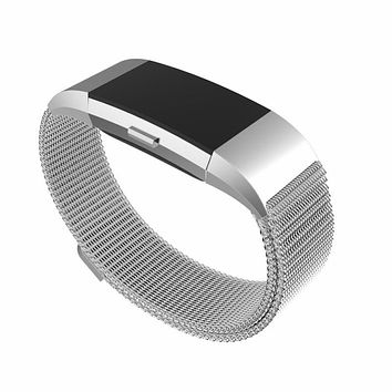 Fitbit charge 2 replacement band Magnetic Milanese Loop metal Band smart bracelet for fitbit charge 2