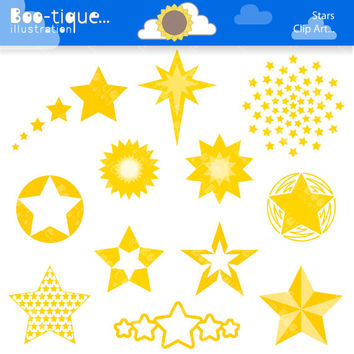 Yellow Stars Digital Clipart. Christmas Clip Art for Instant Download. Xmas Clipart. Stars Clipart. Stars Clip Art. Xmas Clip Art.