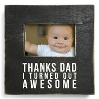 Primitives by Kathy 'Thanks Dad' Box Sign Picture Frame (4x6)