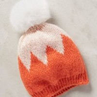 Chevron Pom Beanie by Anthropologie in Orange Size: One Size Hats