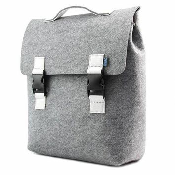 Elephant Grey Felt Backpack by Carter