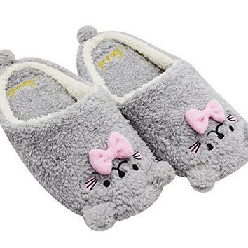 Babyprice Womens Indoor Shoes Comfortable Antislip Floor House Slippers