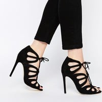 New Look Cut Out Lace Up Heels