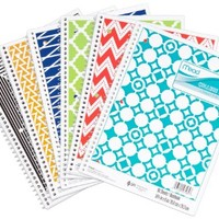 """Mead Spiral Notebook, 1 Subject, College Ruled, 10-1/2"""" x 8"""", Fashion, Color Selected For You May Vary (07164)"""