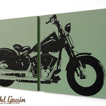 Harley Davidson Motorcycle Wall Art - Springer Print in Custom Colors