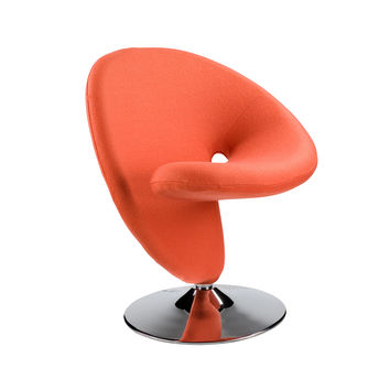 Swirly Swivel Chair in Orange