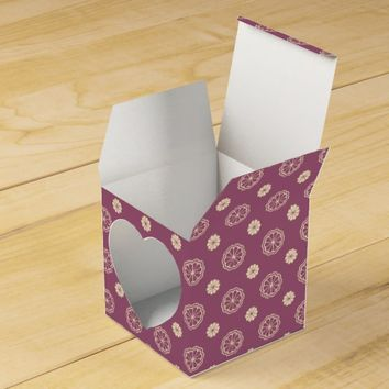 Pretty Blush Beige Floral Pattern Favor Box