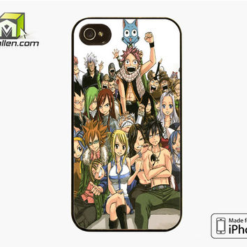 Fairy Tail Manga Collage iPhone 4S Case Cover by Avallen