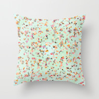 Crystal Confetti Throw Pillow by Nika In Wonderland