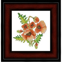 Poppies - PDF Cross Stitch Pattern - INSTANT DOWNLOAD