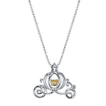 Disney's Cinderella Pumpkin Carriage Pendant in Sterling Silver and 10K Gold - Disney - Collections - Helzberg Diamonds