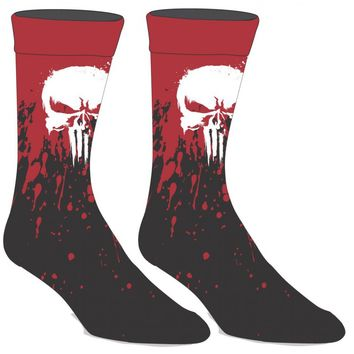 The Punisher Blood Splatter Crew Socks