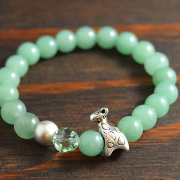 Aventurine Bracelet. Women's Beaded Bracelet. Giraffe Bracelet for Women. Women's Yoga Bracelet. Women's Fashion. Lotus and Lava Bracelet.