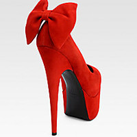 Giuseppe Zanotti - Suede Bow Platform Pumps - Saks Fifth Avenue Mobile