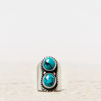 AEO Double Turquoise Cuff Ring   American Eagle Outfitters