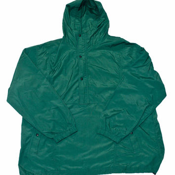 Vintage Lands End Green Anorak Jacket Mens Size Large