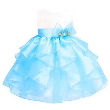 7 Colors Girls Dresses Summer Tutu Princess Baby Flower Costume Tulle Baby Casual Party Dress