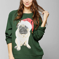 Santa Pug Pullover Sweatshirt - Urban Outfitters