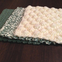Dishcloths, Set of 3, Various Color Options Available, Made to Order