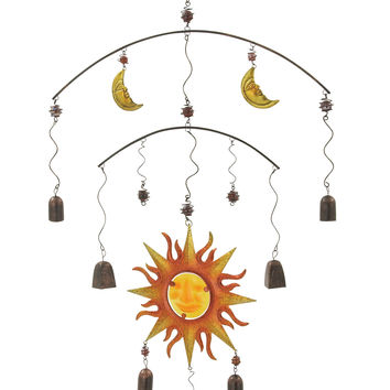 Uniquely Styled Metal Glass Wind Chime